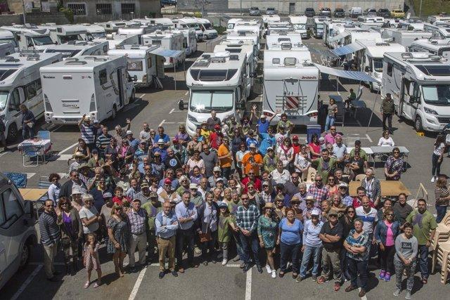 Encuentro de autocaravanas en Maliaño
