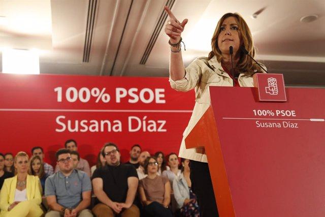 Susana Díaz, en un acto en Granada