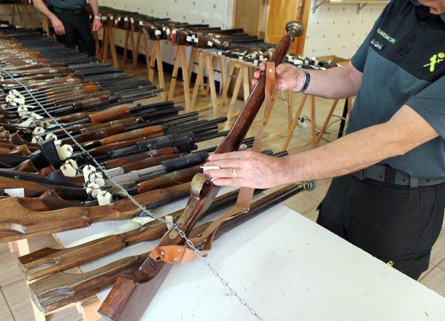 20170512 EXPOSICION SUBASTA ARMAS GUARDIA CIVIL