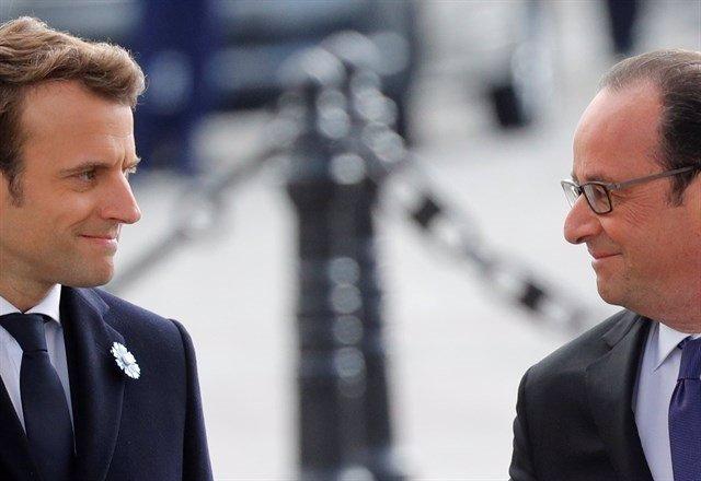 Macron y Hollande.