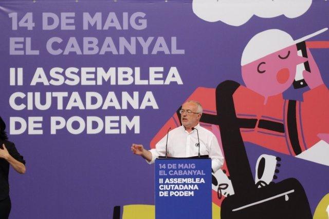 El todavía secretario en el Vistalegre valenciano
