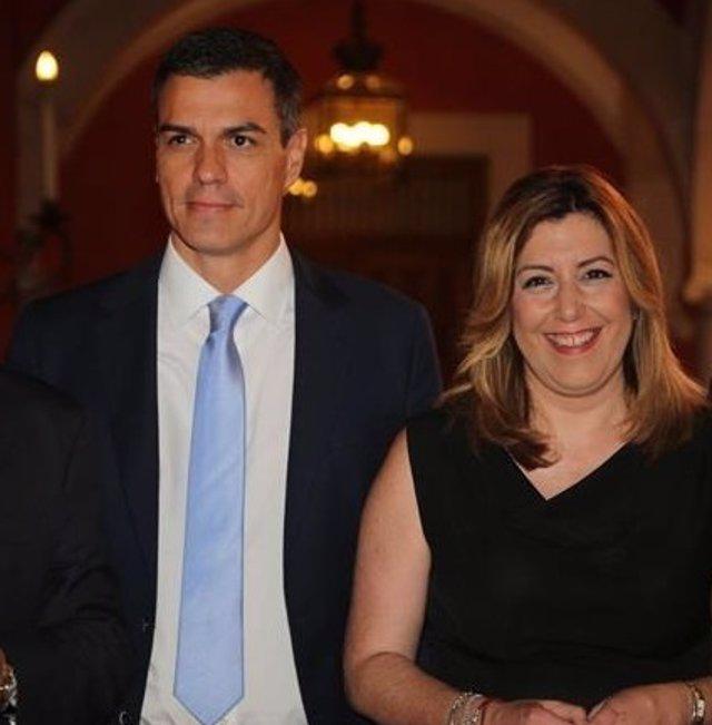 Pedro Sánchez y Susana Díaz en los Desayunos de Europa Press
