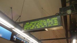 El Metro de Barcelona volverá a hacer paros el lunes en la tercera jornada de huelga