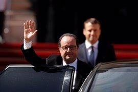 """Hollande defiende que ha dejado Francia """"mucho mejor"""" de cómo se la encontró a su llegada al Elíseo"""