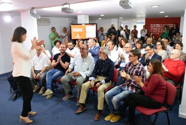 Reunión de grupo de apoyo a Susana Díaz en San Fernando (Cádiz)
