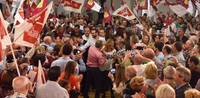 Susana Díaz llega a un acto en Toledo