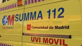 Varios niños heridos leves tras volcar un castillo hinchable en Collado Villalba