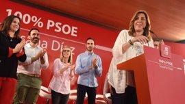 """Susana Díaz pide el voto para """"hacer más grande al PSOE"""" y se compromete a trabajar para derogar la reforma laboral"""