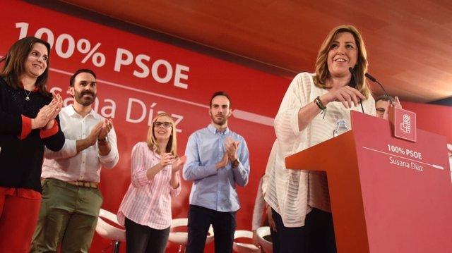 Susana Díaz participa en un acto en Toledo