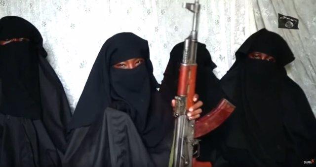 Cuatro de las niñas de Chibok