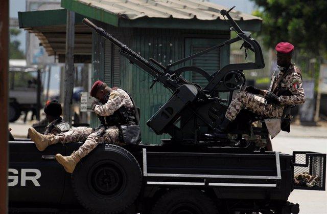 Militares de la Guardia Presidencial de Costa de Marfil