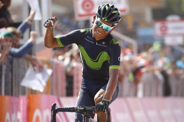 El ciclista colombiano del Movistar Team Nairo Quintana