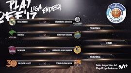 Los duelos Valencia-Barça, Baskonia-Herbalife y Unicaja-Tenerife completan el Playoff