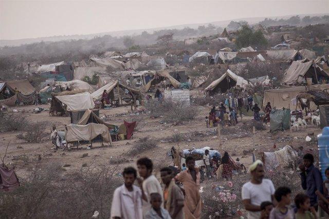 Desplazados internos en Yemen