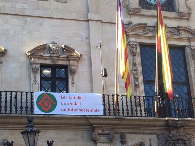 El Ayuntamiento de Palma cuelga la bandera de la Familia