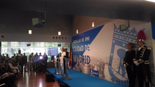 Acto de entregas de las Medallas de la ciudad de Madrid