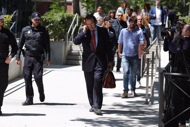 El diputado regional del PP y exalcalde de Leganés, Jesús Gómez, acude a declara