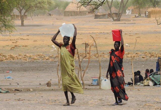 Mujeres desplazadas en Sudán del Sur