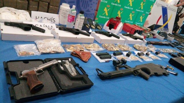 Armas intervenidas en la operación