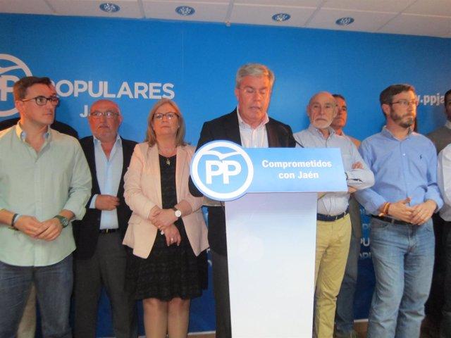Fernández de Moya durante la rueda de prensa