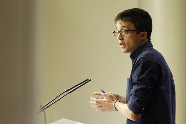 Rueda de prensa de Íñigo Errejón en el Congreso