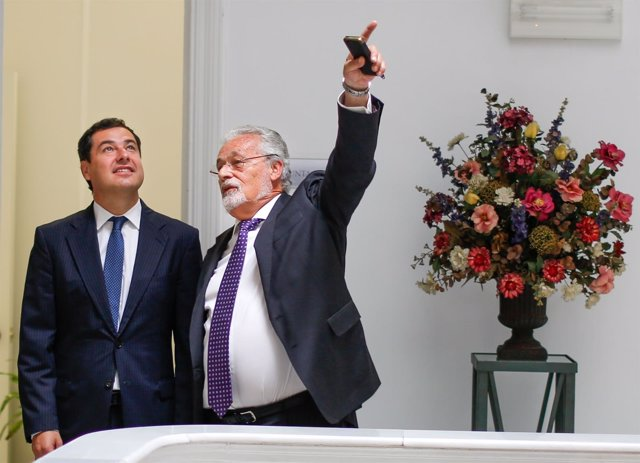 Juanma Moreno, hoy junto a Jesús Maeztu
