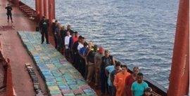 """El transporte de cocaína abortado al ser interceptado el buque estaba promovido por una """"organización gallega"""""""