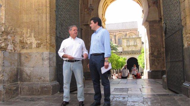 José María Bellido y Salvador Fuentes en la Mezquita-Catedral