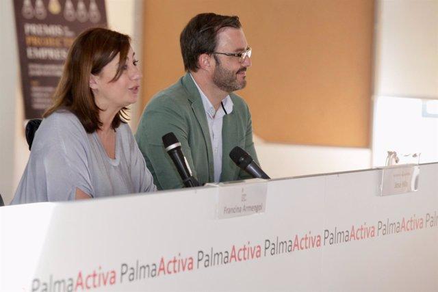Francina Armengol y José Hila