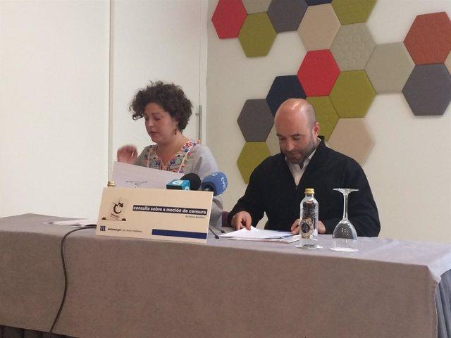 Rueda de prensa de Luís Villares y Ana Seijas, de la coordinadora de En Marea
