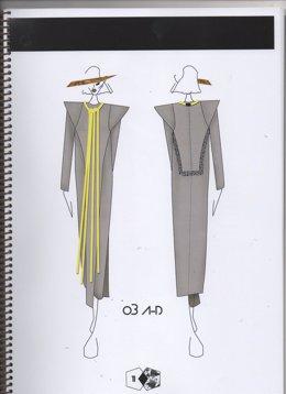 Boceto de la colección 'AUGUSTE-D' de la diseñadora granadina Marisa del Hoyo.
