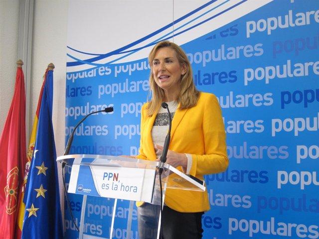 La cabeza de lista del PPN a las elecciones forales, Ana Beltrán.