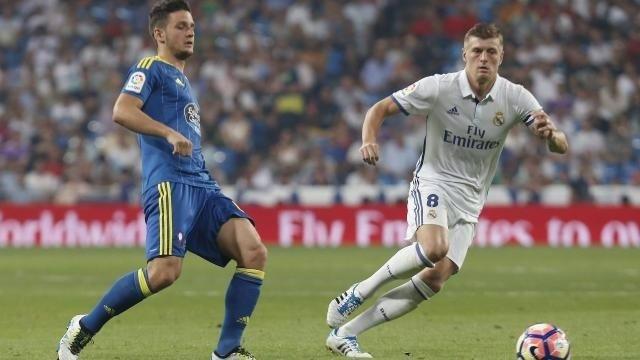 Radoja y Kroos ene l Real Madrid - Celta