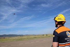 Un dron de observación se incorpora al operativo de emergencias en Puertollano