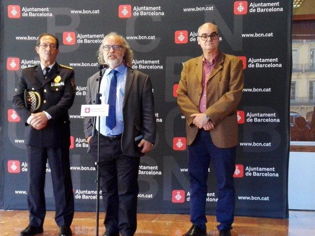 Evelio Vázquez, Amadeu Recasens y Jordi Samsó