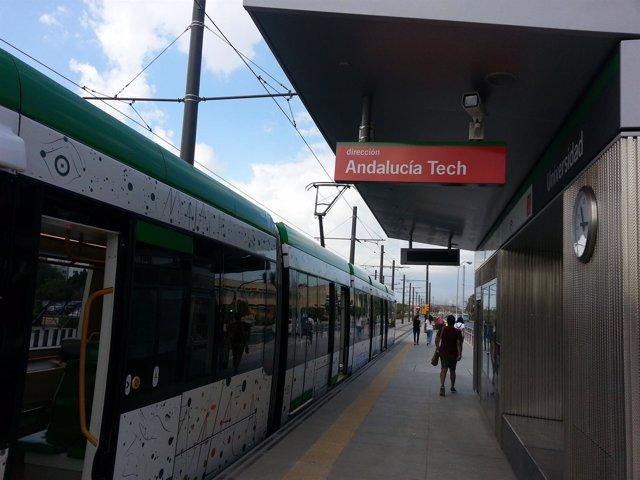 Metro, Suburbano, tranvía, Andalucía Tech, UMA, Universidad, Teatinos