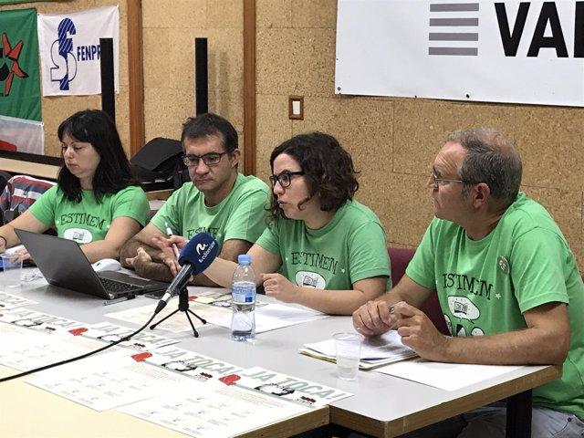 Representantes de STEPV en rueda de prensa