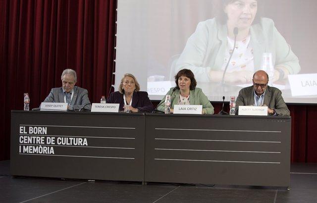 Josep Quitet, Teresa Crespo, Laia Ortiz y Albert Alberich