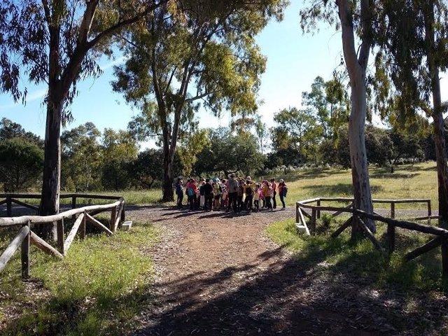 Un grupo de alumnos durante la actividad