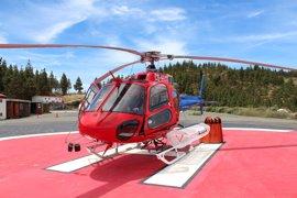 El primer helicóptero de extinción de incendios contratado por Gran Canaria llega a la isla
