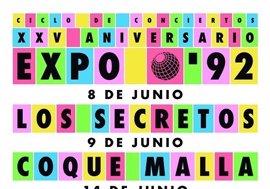 Los Secretos, Coque Malla, Nacha Pop y Juan Perro llegan a Sevilla para celebrar el 25 aniversario de la Expo'92