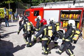 Más de 600 personas participan en un simulacro de incendio con víctimas en San Sebastián