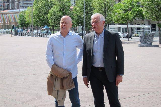 Odón Elorza y Josep Borrell