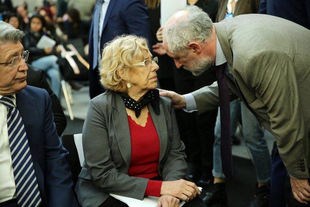 Manuela Carmena y Luis Cueto
