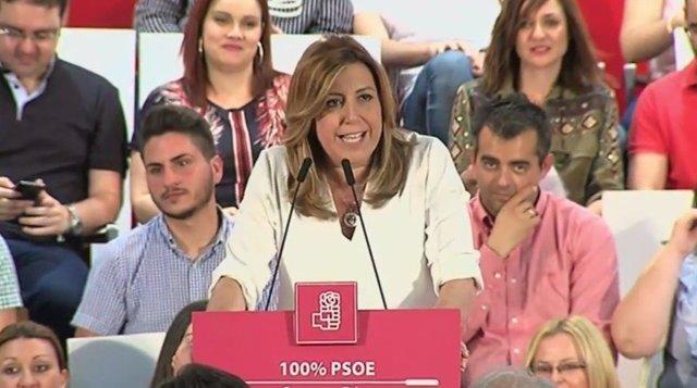 Susana Díaz, en un acto en Almería