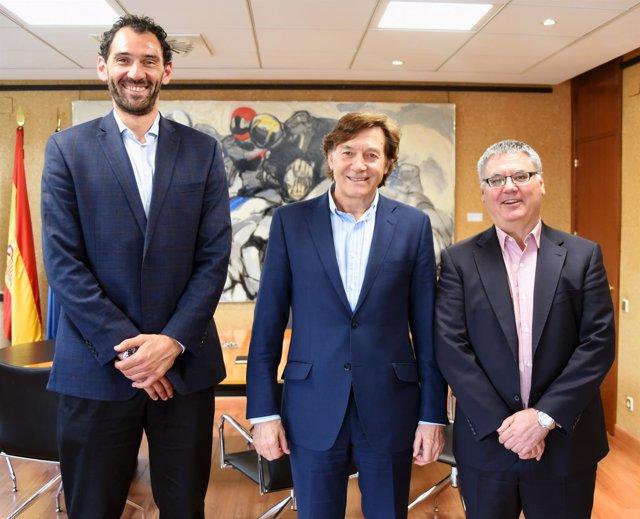 Lete se reúne con la FEB y la ACB para analizar los desafíos del baloncesto