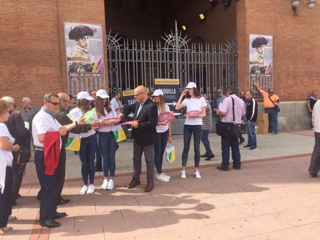 Promoción de los atractivos taurinos de Jaén en la plaza de las Ventas de Madrid
