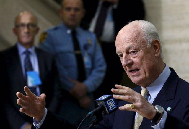 El enviado especial de la ONU a Siria, Staffan de Mistura