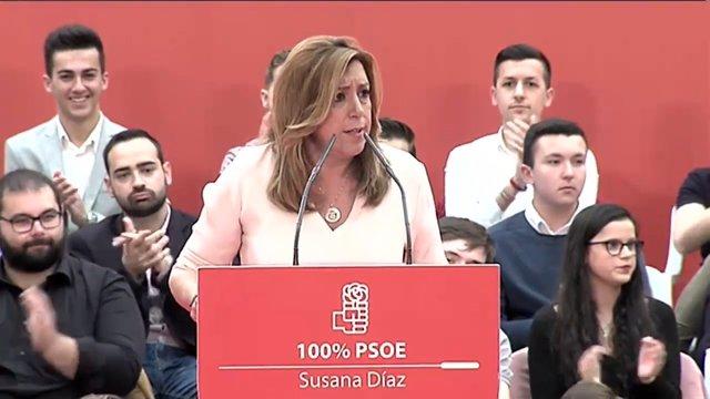 """Susana Díaz no dejará """"que nadie arrodille al PSOE"""""""