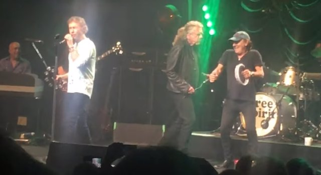 PAUL RODGERS, ROBERT PLANT Y BRIAN JOHNSON